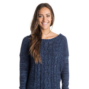 Roxy Fisherman Seas Cable Knit Sweater